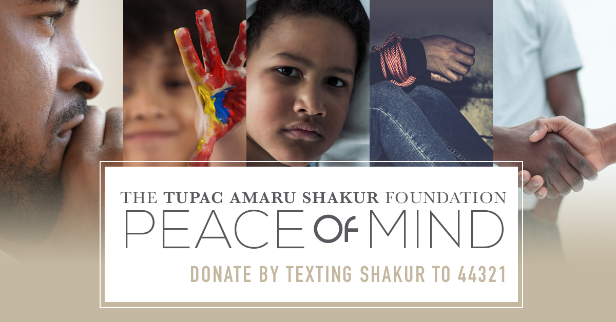 Support the 'Peace of Mind' Campaign for Mental Health Awareness during the global Covid-19 Pandemic by texting SHAKUR to 44321